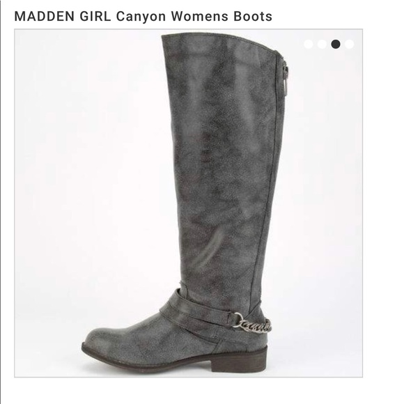 bfe89ef62096 Madden Girl Shoes - Madden Girl Canyon Riding Wide calf boots gray 7